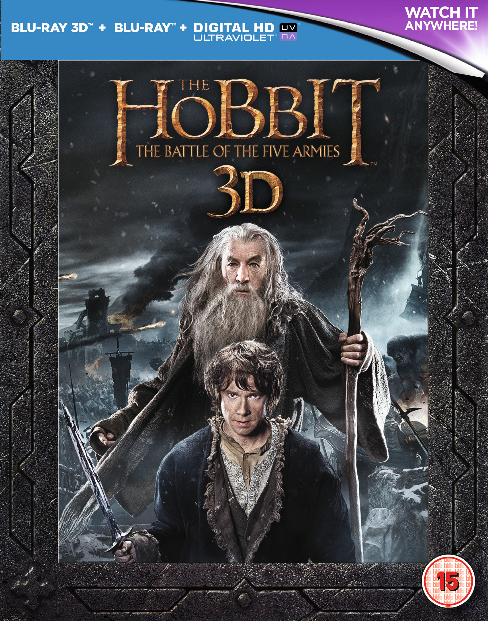 The Hobbit The Battle Of The Five Armies 2014 Blu Ray Sir Ian Mckellen Ebay