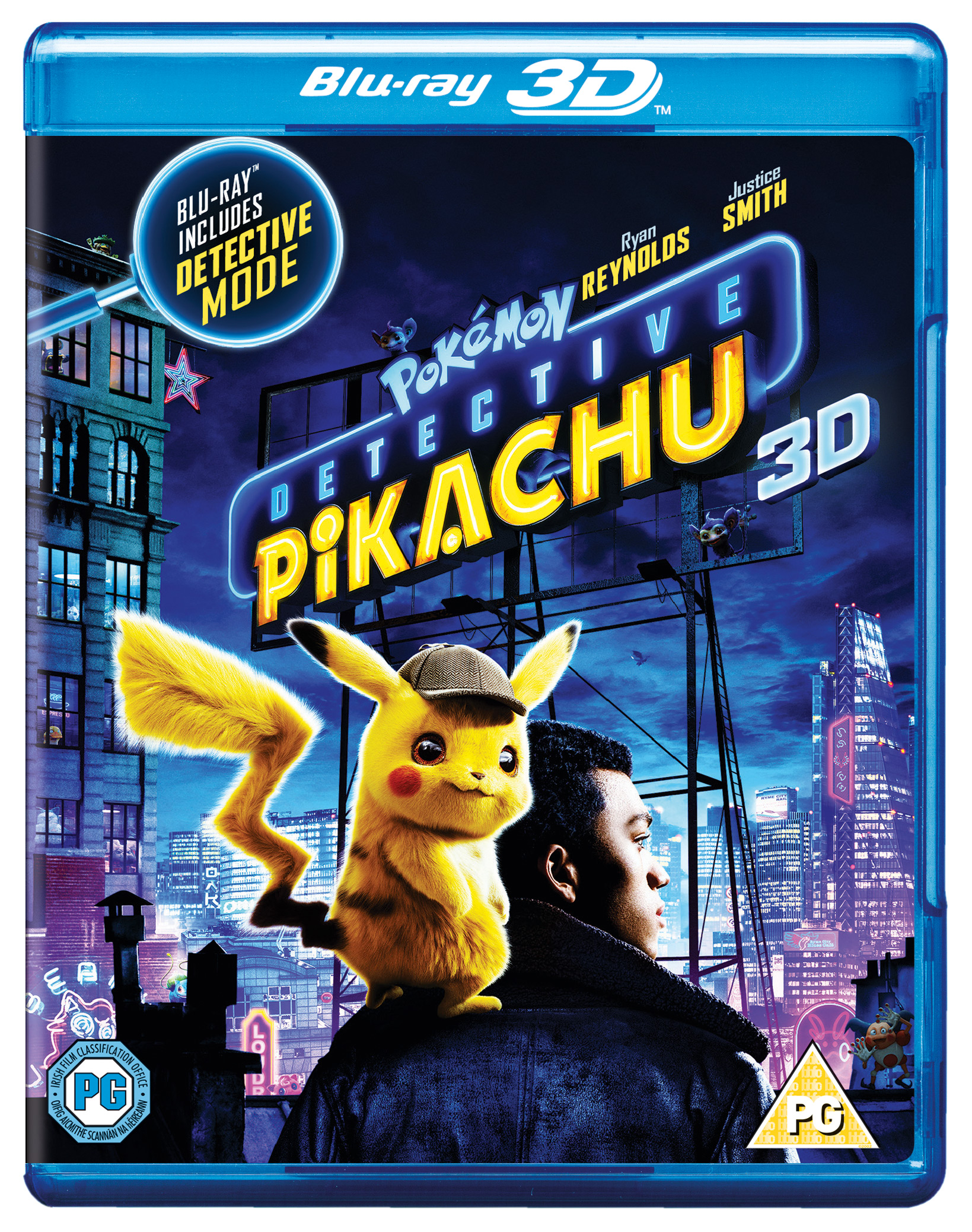 Pokemon Detective Pikachu 2019 3d Blu Ray Ryan Reynolds Justice Smith Ebay