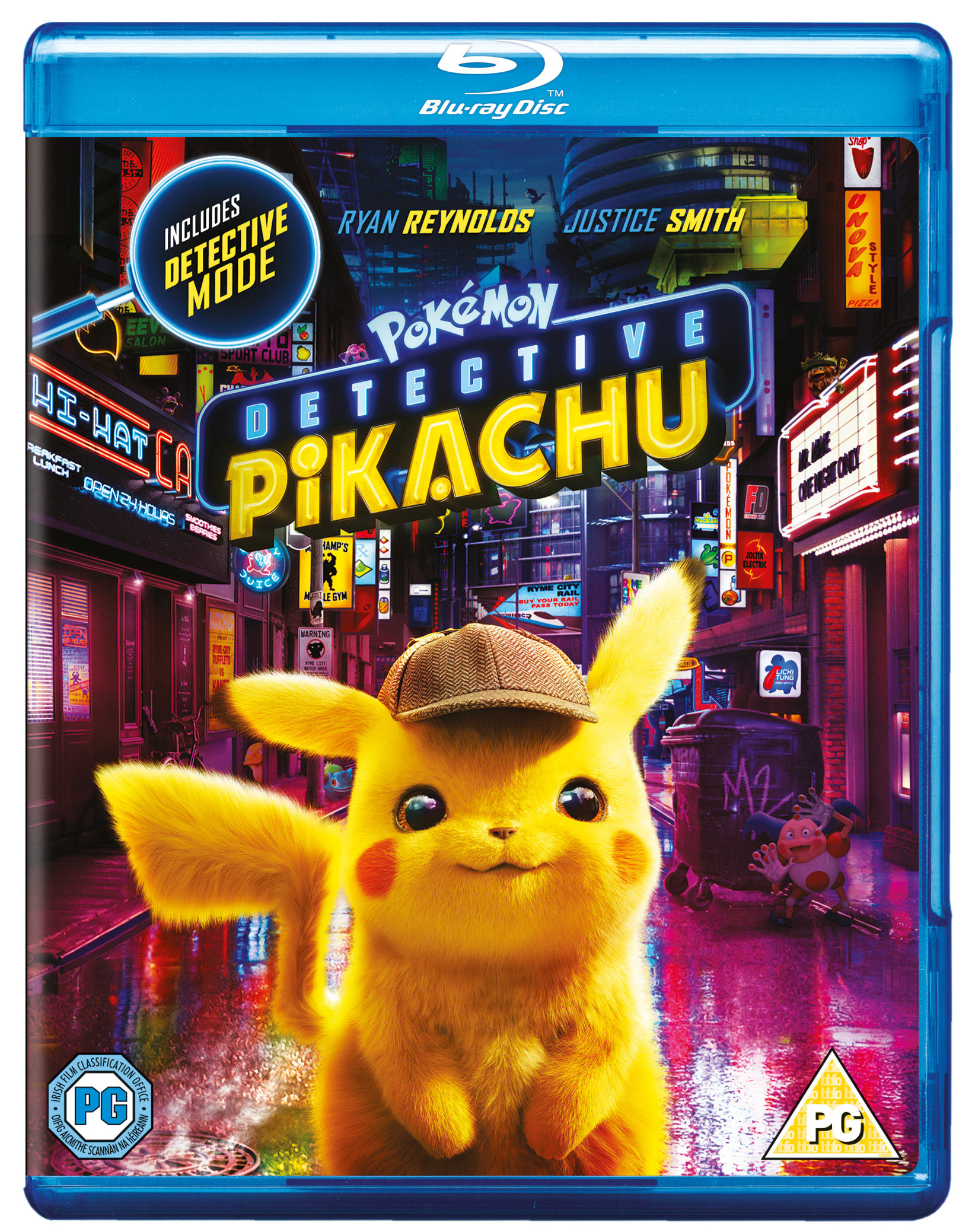Pokemon Detective Pikachu 2019 Blu Ray Ryan Reynolds Justice Smith Ebay